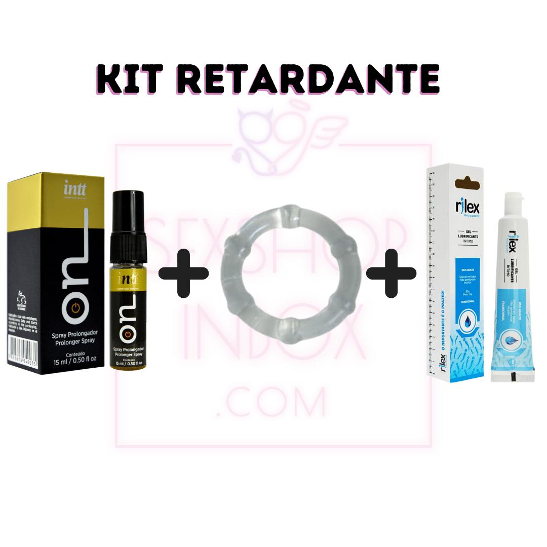KIT RETARDANTE - ON RETARDANTE + ANEL PENIANO + LUBRIFICANTE