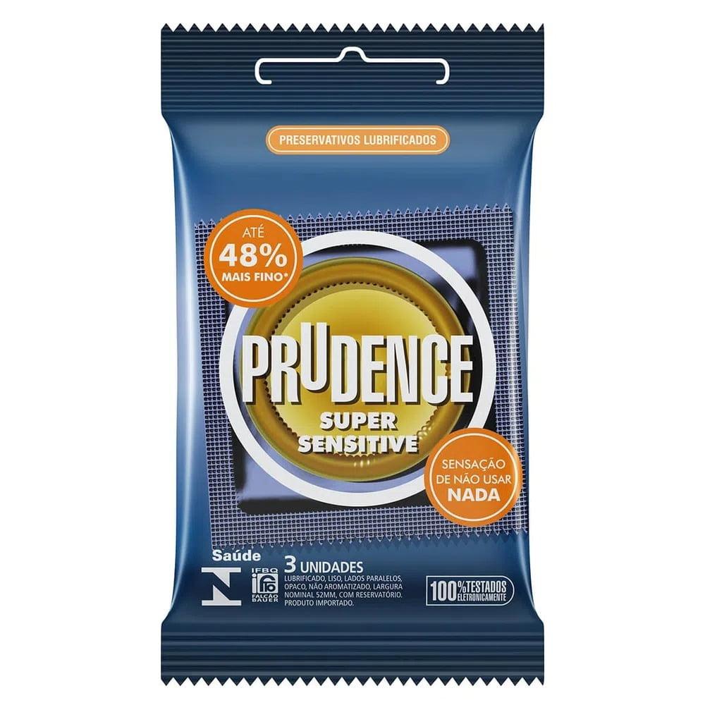 Preservativo Prudence Super Sensitive c/ 3