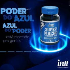 SUPER MACHO O PODER DO AZUL 30 CÁPSULAS POTENCIALIZADOR E MULTIVITAMÍNICO MASCULINO INTT