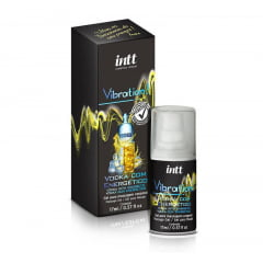 VIBRATION GEL EXCITANTE QUE VIBRA POWER EXTRA FORTE SABOR VODKA COM ENERGÉTICO 17ML INTT