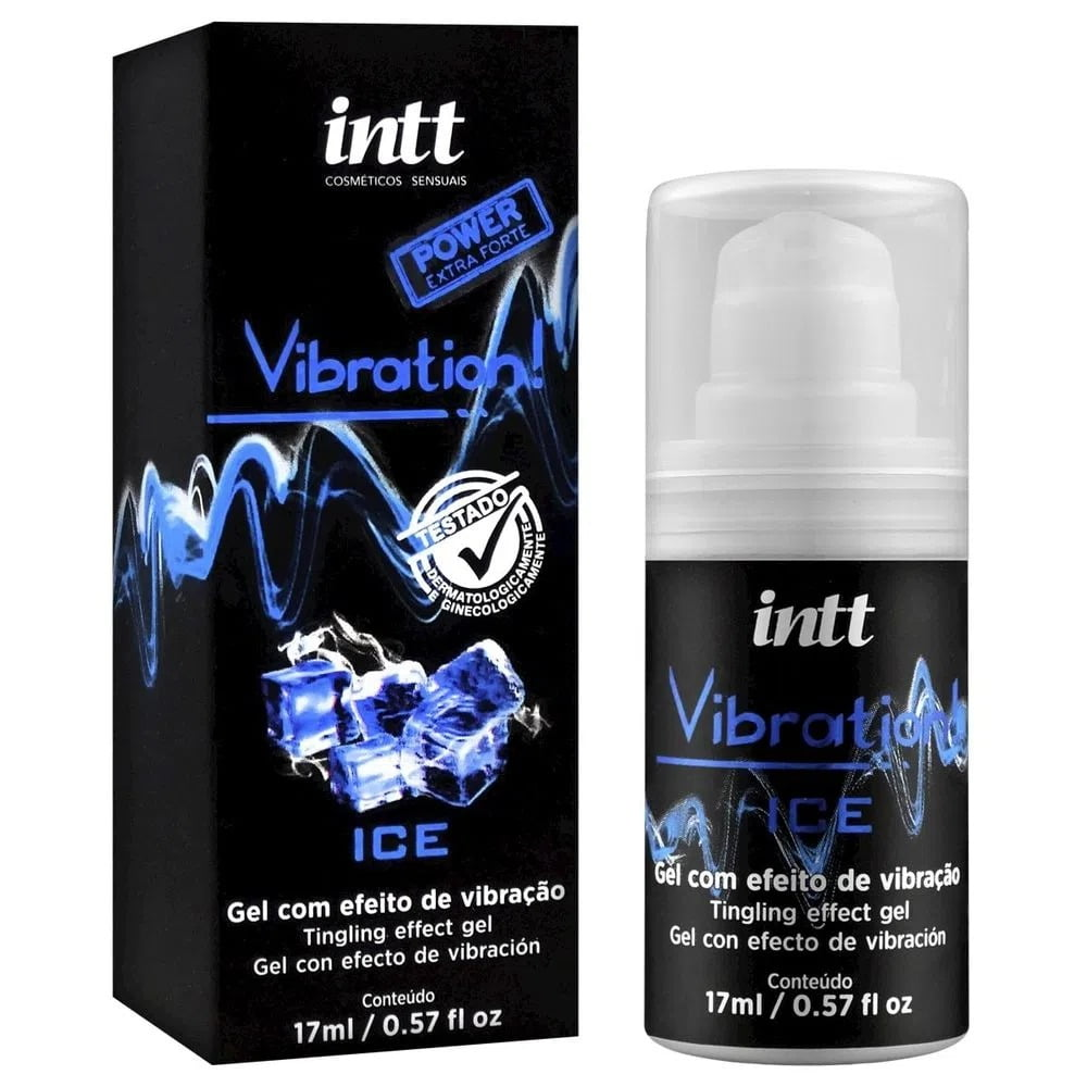 VIBRATION GEL EXCITANTE QUE VIBRA POWER EXTRA FORTE SABOR ICE 17ML INTT